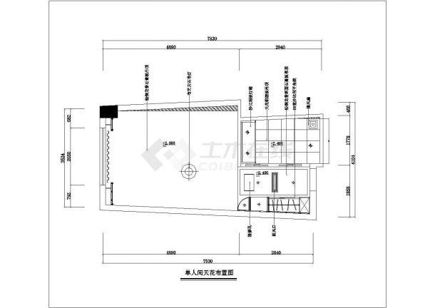 广安市某新建小区120平米样板房全套装修施工设计CAD图纸-图一