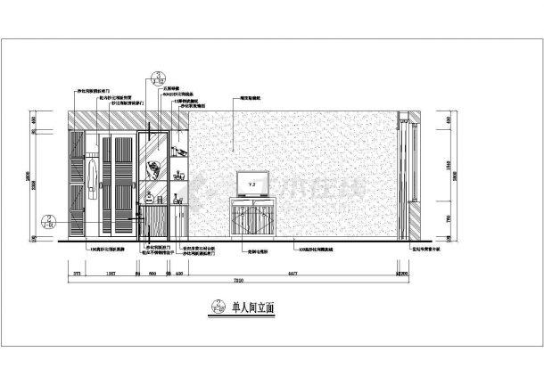 广安市某新建小区120平米样板房全套装修施工设计CAD图纸-图二