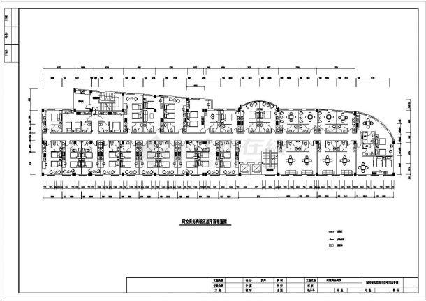某地大型商务宾馆建筑方案CAD设计图-图二