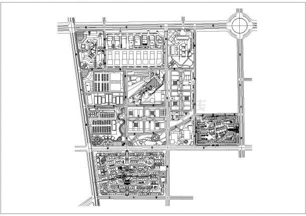 某市开发区整体规划设计图纸-图一