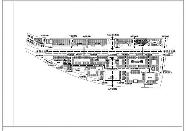 某大型商贸区规划设计cad总平面方案图纸(含经济指标)-图一