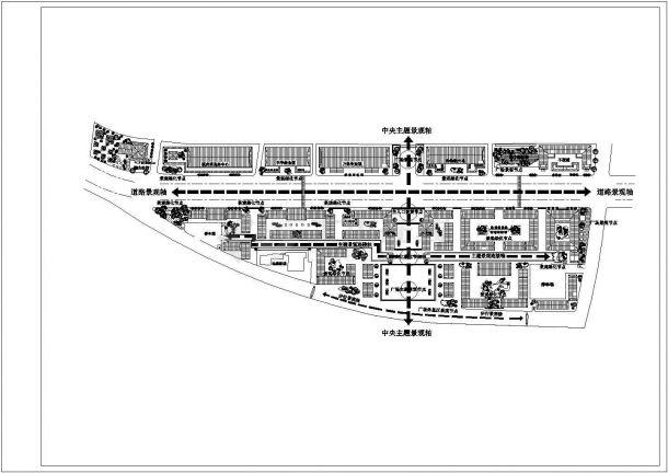 某大型商贸区规划设计cad总平面方案图纸(含经济指标)-图二
