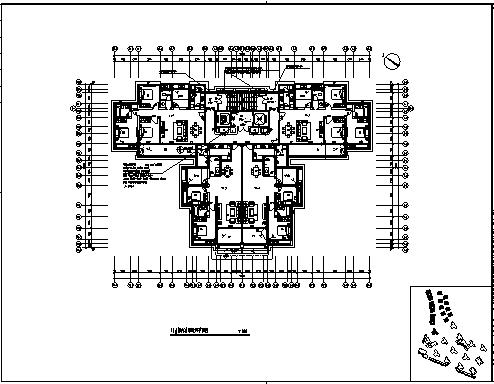 住宅通风设计_某市二十八层带地下二层校区教师住宅小区通风工程施工cad图纸-图二