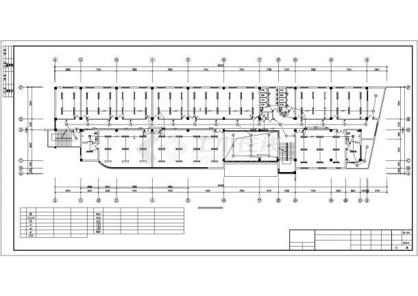 某五层办公楼全套强弱电气设计CAD施工图纸-图一