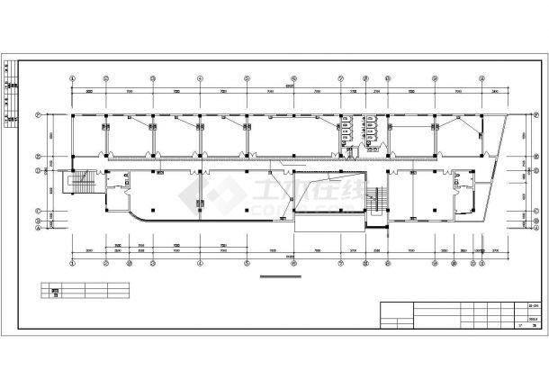 某五层办公楼全套强弱电气设计CAD施工图纸-图二