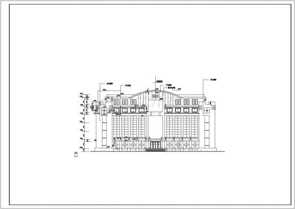 8900平米11层框架结构商务大酒店全套建筑设计CAD图纸(含总平面图)-图一