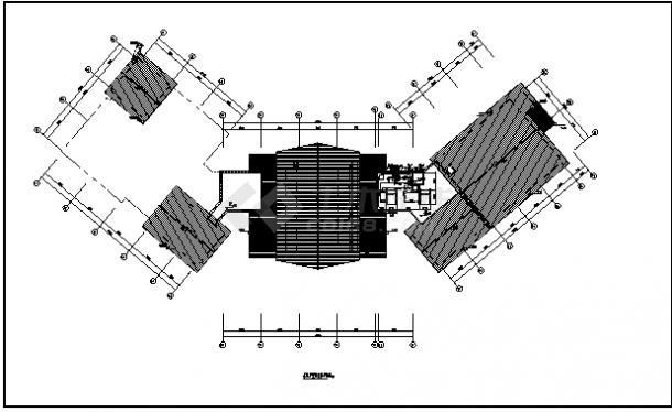 民宿暖通设计_某地上三层带地下一层民宿暖通施工cad图纸-图一