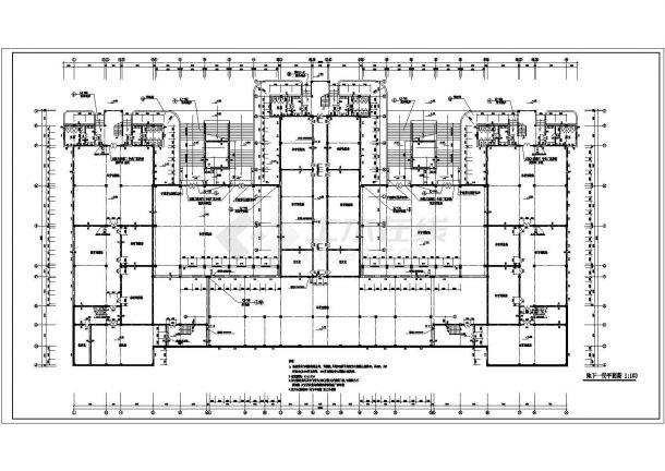 某教学楼建筑全套规划cad施工图-图二