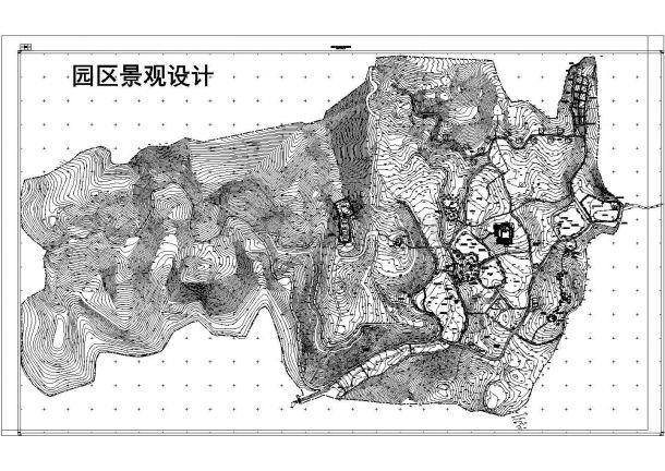 农家乐旅游景观小区规划施工图纸-图一