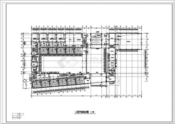 某小学教学楼平面规划cad施工图-图二
