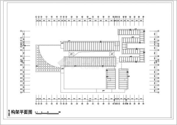 某学校建筑单体规划cad施工图-图一