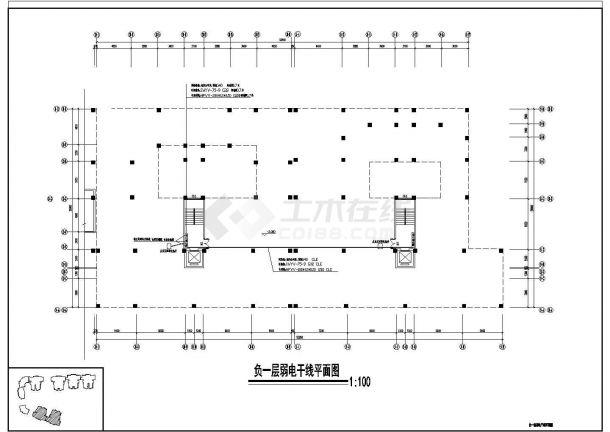 商住楼电施图CAD图纸3-图一