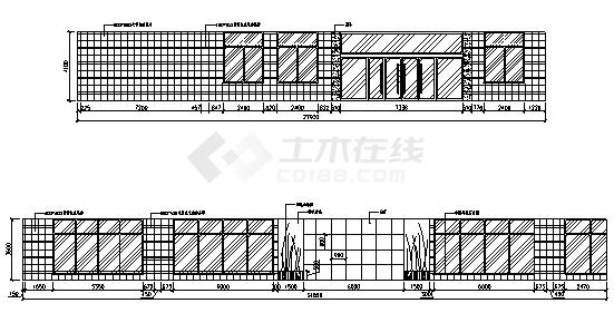 图书馆设计_某市五层图书馆建筑外装饰施工cad图(带效果图)-图二