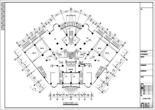 20层商住楼弱电图CAD图纸-图一