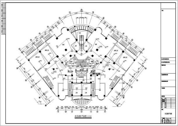 20层商住楼弱电图CAD图纸-图二