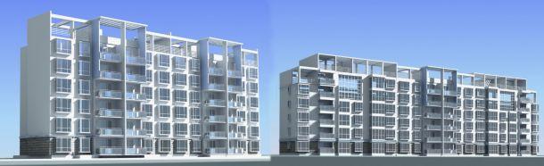 常州某经典多层住宅楼全套建筑设计方案图纸(含效果图)-图一