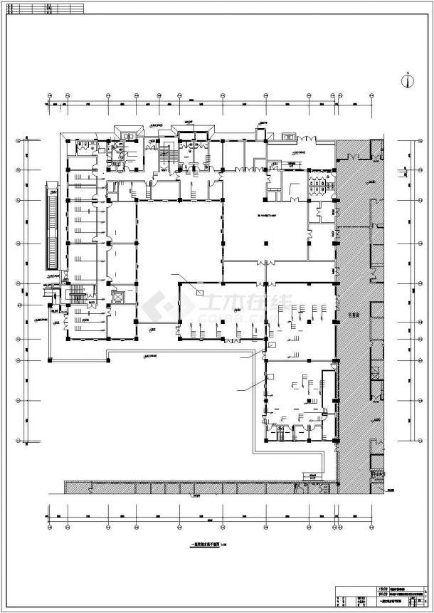 某医院4200平米3层框架结构行政办公楼全套暖通设计CAD图纸-图一