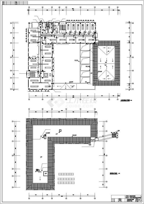 某医院4200平米3层框架结构行政办公楼全套暖通设计CAD图纸-图二