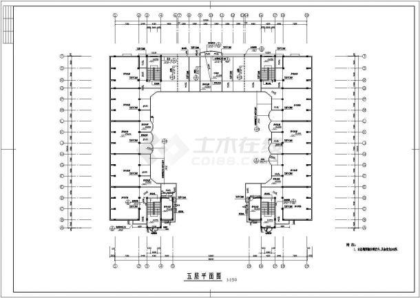 某中学全套建筑结构规划cad施工图-图二