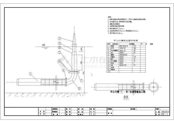 某景观水景工程设计cad喷泉管路布置图(甲级院设计)-图一