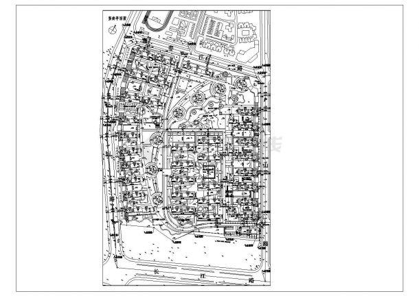 天津市南开区世园花园小区总平面规划设计CAD图纸-图一