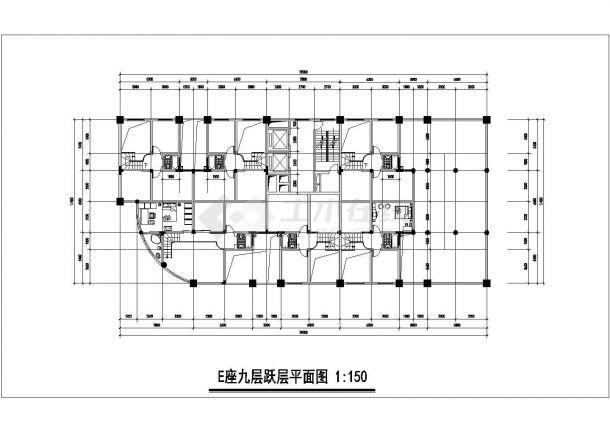 呼和浩特市某新建小区多栋住宅楼建筑设计CAD图纸(含总平面图)-图一