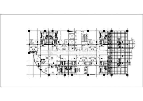 呼和浩特市某新建小区多栋住宅楼建筑设计CAD图纸(含总平面图)-图二