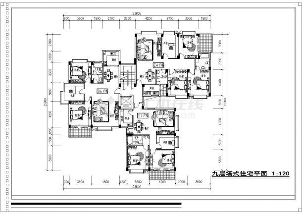 [福州]某高档住宅小区别墅规划设计cad平面方案施工图-图一