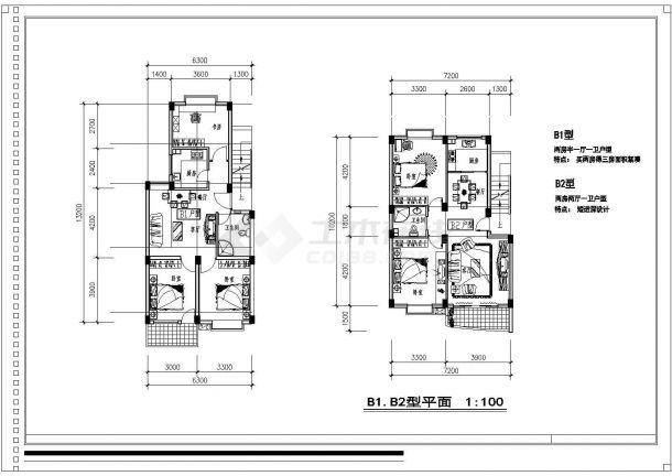 [福州]某高档住宅小区别墅规划设计cad平面方案施工图-图二