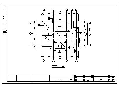 住宅设计_三层砖混结构简欧风格住宅建筑施工cad图,含效果图-图二