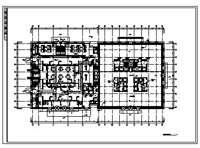 办公楼暖通设计_某市三十四层办公楼空调暖通施工cad图纸-图一