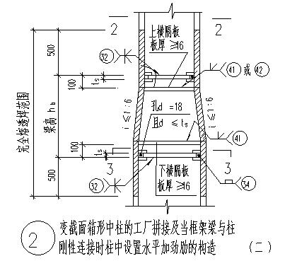 方管柱节点设计_某工厂方管柱节点构造设计cad图(含五种设计)-图一