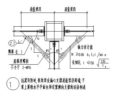 支撑的节点设计_最新钢结构支撑的节点构造大样设计cad图纸-图一