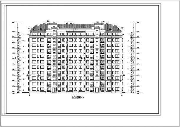 某小区12#13#十一层高层住宅楼bob电竞app方案设计施工图(含平立剖及bob电竞app设计说明)-图二