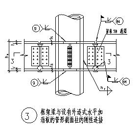 通用的钢框架梁与柱的刚性连接节点构造大样设计cad图(含三种设计)-图一