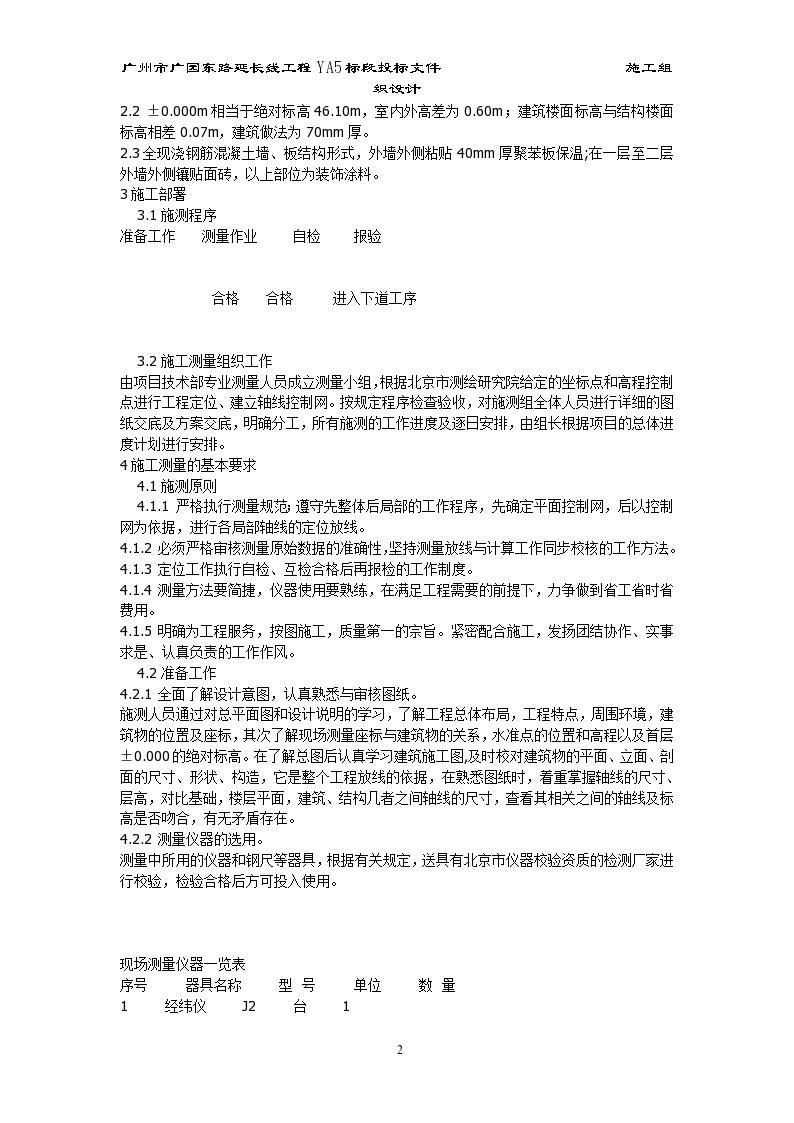 北京西二旗某工程施工测量组织设计方案-图二