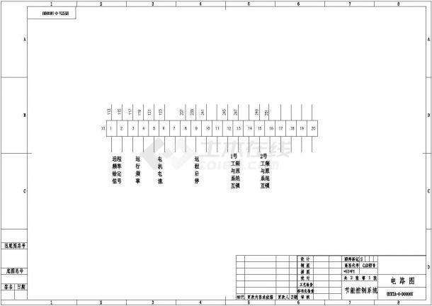 经典ABB变频器一拖二控制系统设计CAD电气原理图-图二