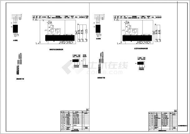 常用风机、水泵控制箱系统及cad电气控制原理图-图一