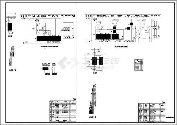 常用风机、水泵控制箱系统及cad电气控制原理图-图二