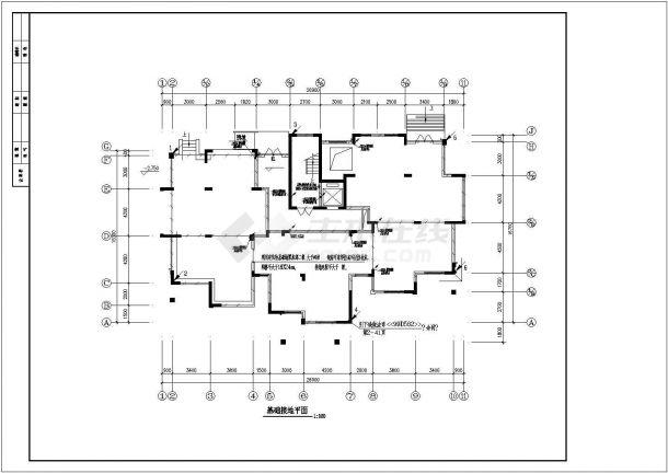 北方某小区高层住宅楼、高档洋房全套电气CAD设计图纸-图一
