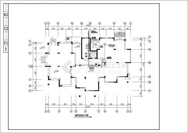 北方某小区高层住宅楼、高档洋房全套电气CAD设计图纸-图二
