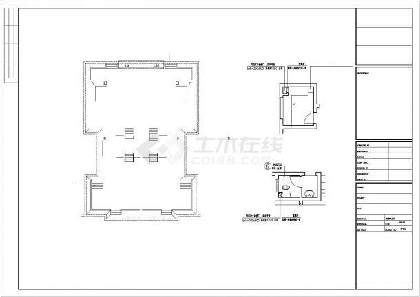克拉玛依市某现代化村镇三层砖混结构独栋别墅建筑设计CAD图纸-图一