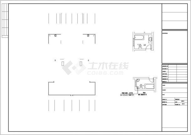 克拉玛依市某现代化村镇三层砖混结构独栋别墅建筑设计CAD图纸-图二