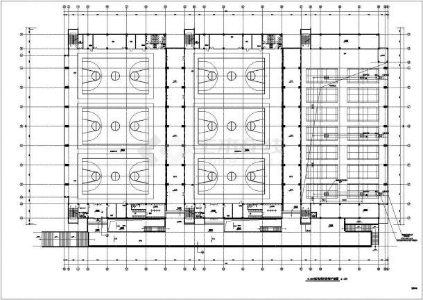 某郊区体育馆训练馆全套施工设计cad图纸(含空气箱控制系统工作原理图)-图一