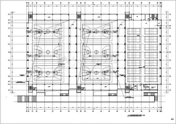 某郊区体育馆训练馆全套施工设计cad图纸(含空气箱控制系统工作原理图)-图二