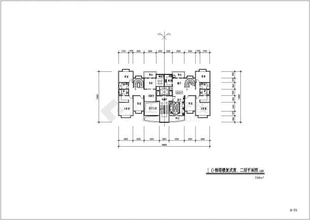 某地区原文化宫小区占地面积24000多平住宅小区bob电竞app及规划设计施工图(含总平面图)-图一