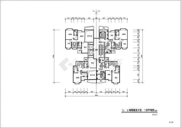某地区原文化宫小区占地面积24000多平住宅小区bob电竞app及规划设计施工图(含总平面图)-图二