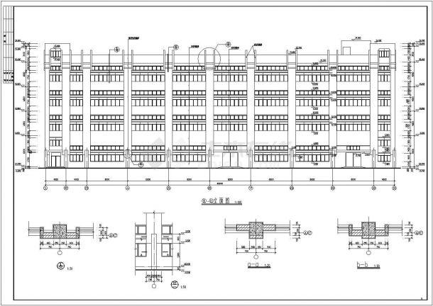 某四层框架结构生产厂房设计cad全套建筑施工图(含设计说明)-图一