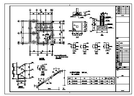 别墅设计_三层砖混结构新农村单家独院式别墅建筑施工cad图,含效果图-图二
