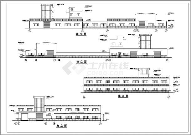 某单层混凝土结构主车间设计cad全套建筑施工图(含结构设计,含设计说明)-图二